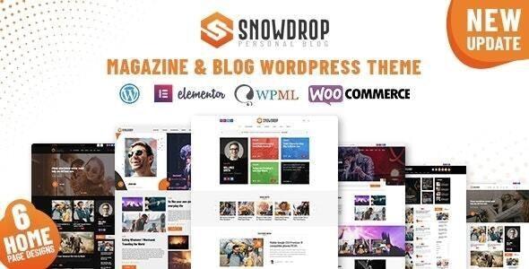 Snowdrop - Viral News & Magazine WordPress Theme - News / Editorial Blog / Magazine