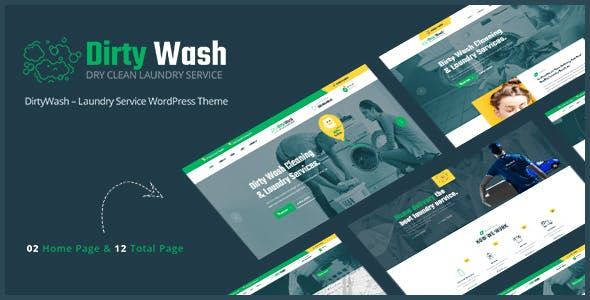 DirtyWash – Laundry Service WordPress Theme