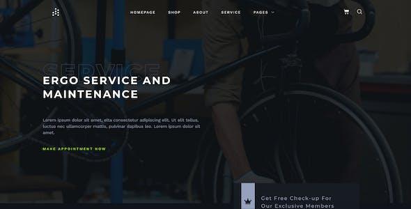 ERGO - Bike & Cycling WooCommerce Elementor Template Kit