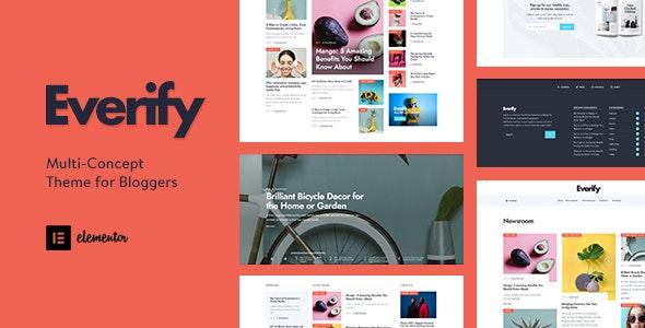 Everify - Multi-Concept Theme for Bloggers - Personal Blog / Magazine