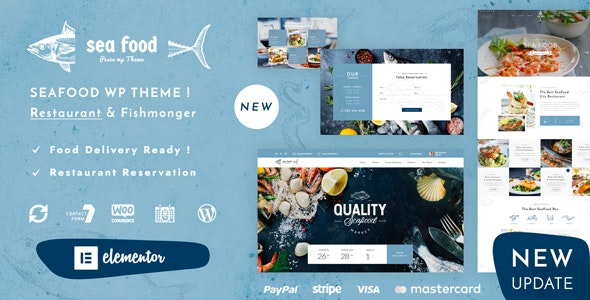 Pesce - Seafood Restaurant WordPress Theme - Food Retail