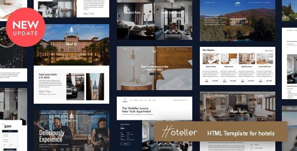 Hoteller - HTML Template - Retail Site Templates