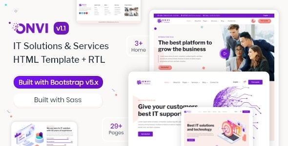 Onvi - IT Solutions & Services HTML Template - Business Corporate