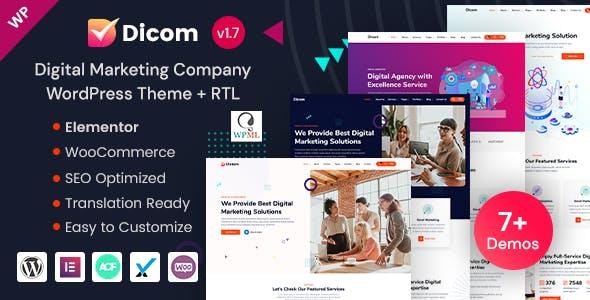Dicom - Elementor Digital Marketing Company WP Theme