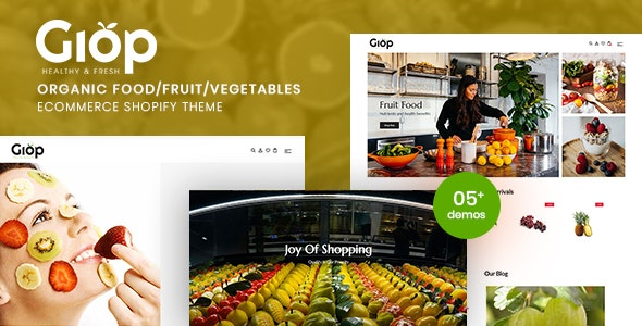 Giop - Organic Food/Fruit/Vegetables eCommerce Shopify Theme - Shopify eCommerce