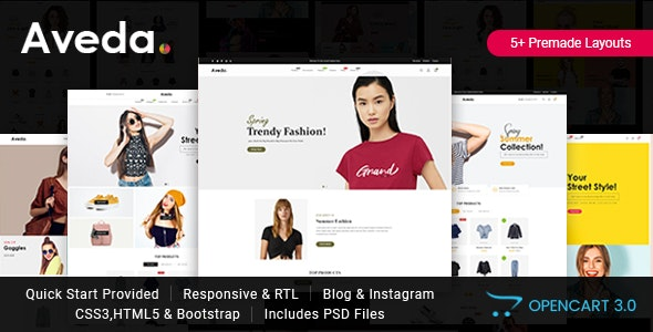 Aveda - Responsive Opencart 3 Theme - Fashion OpenCart