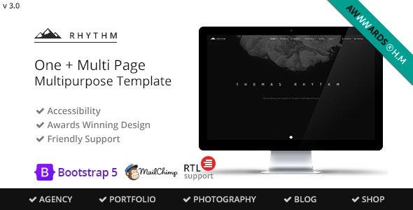 Rhythm - Multipurpose One/Multi Page Template - Creative Site Templates