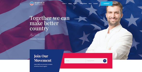 Harnold - Political WordPress Theme