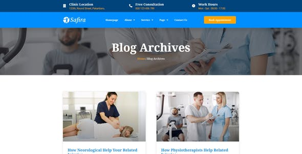 Safira - Physioterapy Elementor Template Kit