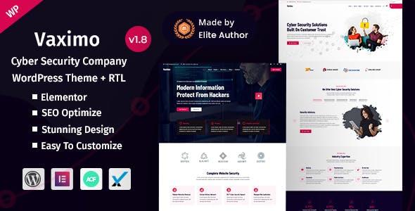 Vaximo - Cyber Security Company WordPress Theme