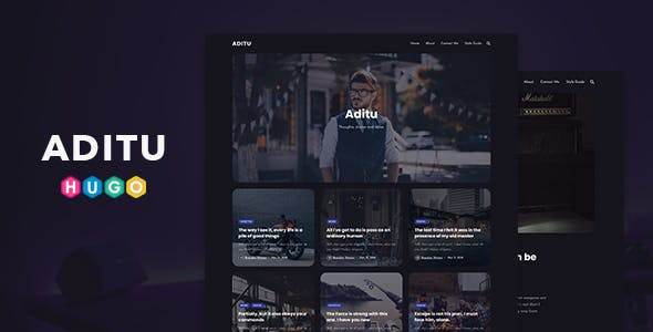 Aditu – Dark Theme for HUGO Static Site Generator