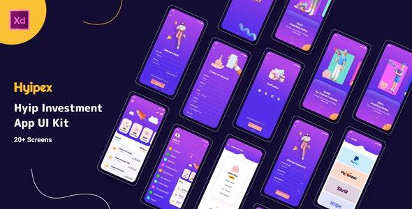 Hyipex - Hyip Investment  App UI Design - Business Corporate