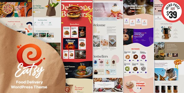 Eatsy - Food Delivery WordPress Theme