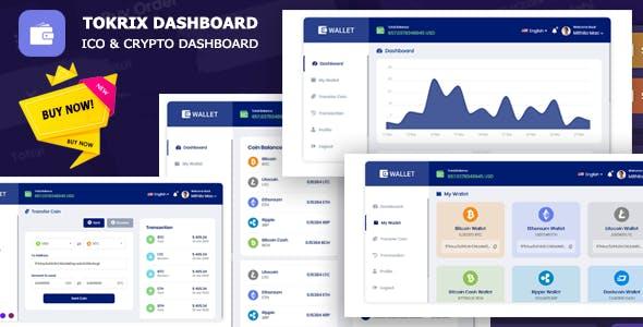 Tokrix - ICO Admin & Crypto Dashboard