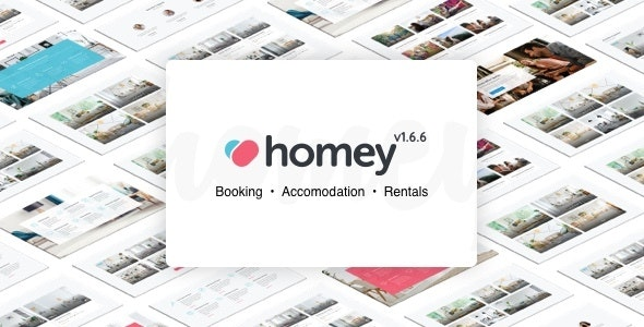 Homey v1.6.6 – Booking and Rentals WordPress Theme