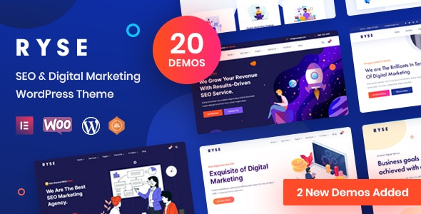 Ryse - SEO & Digital Marketing Theme - Technology WordPress