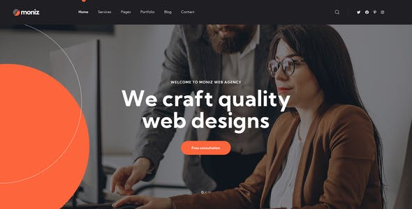 Moniz - Web Design Agency PSD Template