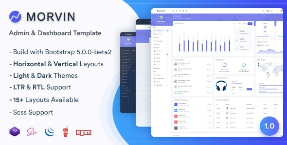 Morvin - Admin & Dashboard Template - Admin Templates Site Templates