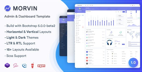 Morvin - Admin & Dashboard Template