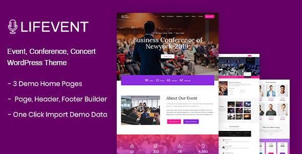 Lifevent - Event Conference WordPress Theme