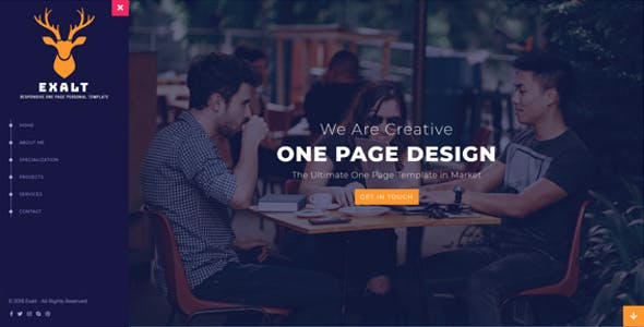 Exalt - Responsive HTML5 One Page Template