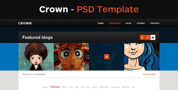 Crown - A Clean Pixel Perfect PSD Template - Portfolio Creative