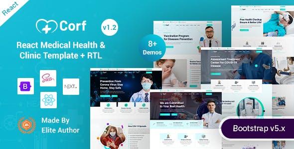 Corf - React Next.js Medical Health Template