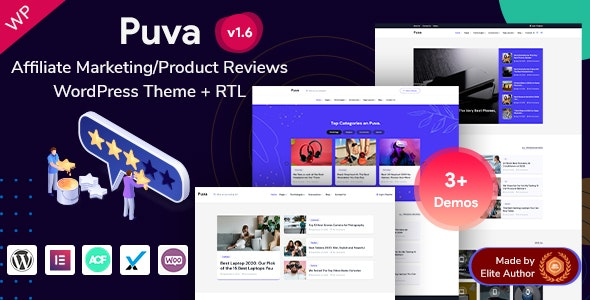 Puva - Affiliate Product Reviews WordPress Theme - Marketing Corporate
