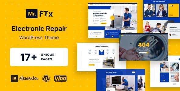 MrFix - Appliances Repair Services WordPress Theme