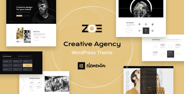 ZOE - Creative Agency WordPress Theme - Creative WordPress