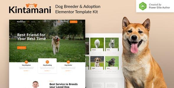 Kintamani – Dog Breeder & Adoption Elementor Template Kit