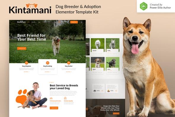 Kintamani – Dog Breeder & Adoption Elementor Template Kit - Business & Services Elementor