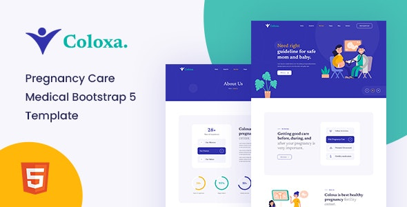 Coloxa - Pregnancy Care Medical Bootstrap 5 Template - Health & Beauty Retail