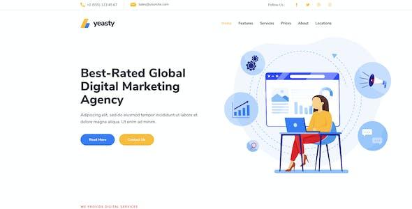 Yeasty   Marketing Agency & Advertising Service Elementor Template Kit