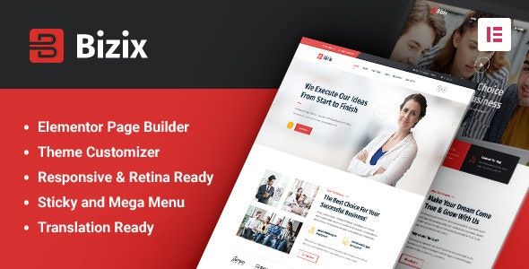 Bizix - Corporate and Business WordPress Theme - Business Corporate