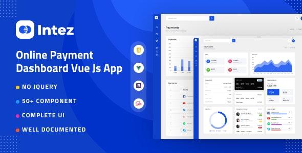 Intez - Payment Dashboard Vue App - Admin Templates Site Templates