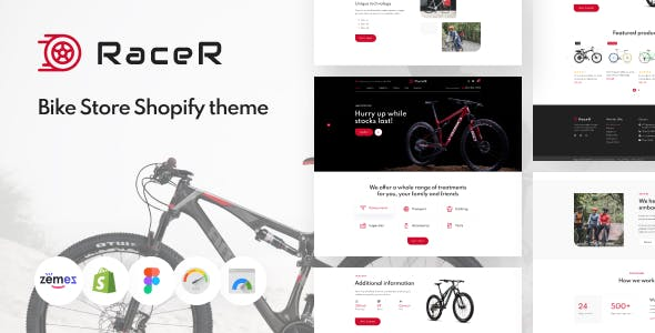 RaceR - Super Clean Bike Store Shopify Theme