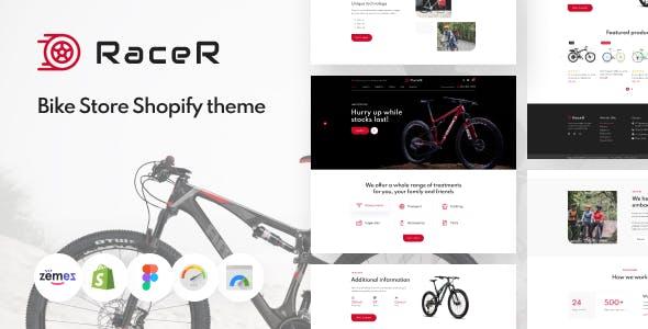 RaceR - Super Clean Bike Store Shopify Theme