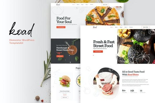 Koad - Restaurant & Bistro Elementor Template Kit - Food & Drink Elementor
