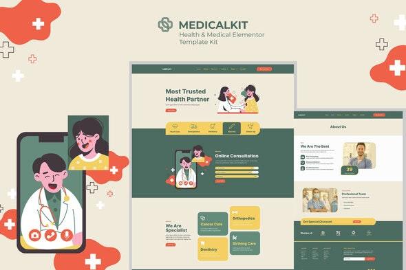 Medicalkit - Health & Clinical Care Elementor Template Kit - Health & Medical Elementor