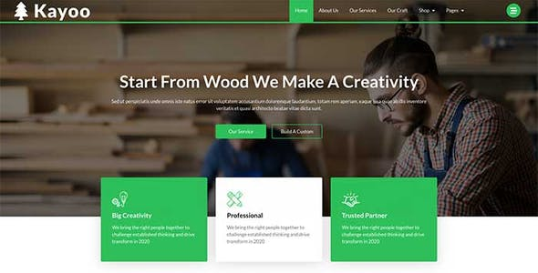 Kayoo - Wood Company Woocommerce Elementor Template Kit