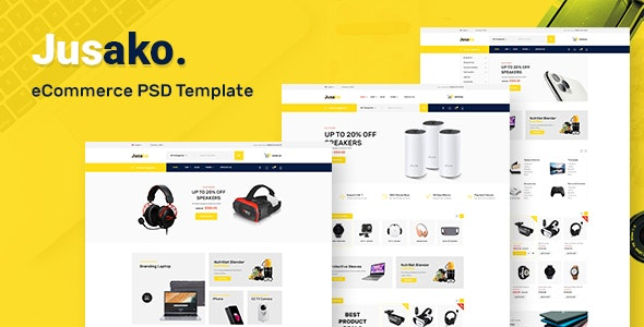 Jusako - Gadgets eCommerce PSD Template - Creative Photoshop