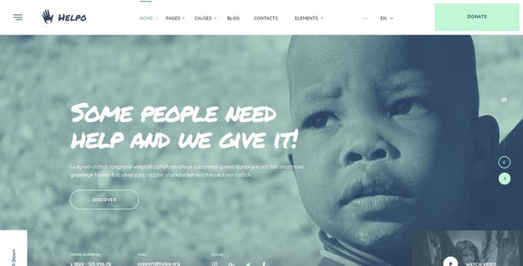 Helpo | Fundraising & Charity WordPress Theme