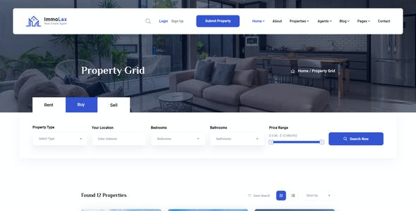 Immolax - Real Estate Services PSD Template