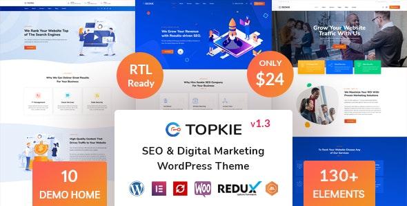 Topkie - SEO Marketing WordPress Theme - Marketing Corporate
