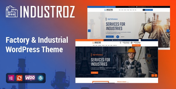 Industroz - Factory & Industrial WordPress Theme - Business Corporate