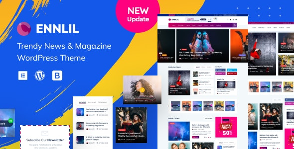 Ennlil - Modern Magazine WordPress Theme - News / Editorial Blog / Magazine