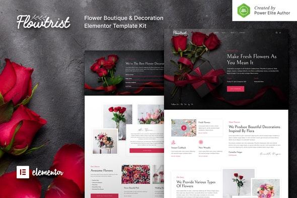 Flowtrist – Flower Boutique & Florist Elementor Template Kit - Business & Services Elementor