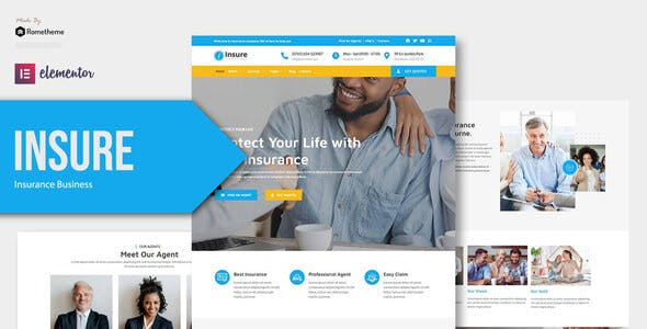 Insure - Insurance Business Elementor Template Kit