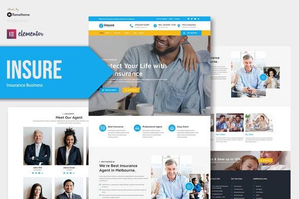 Insure - Insurance Business Elementor Template Kit - Business & Services Elementor